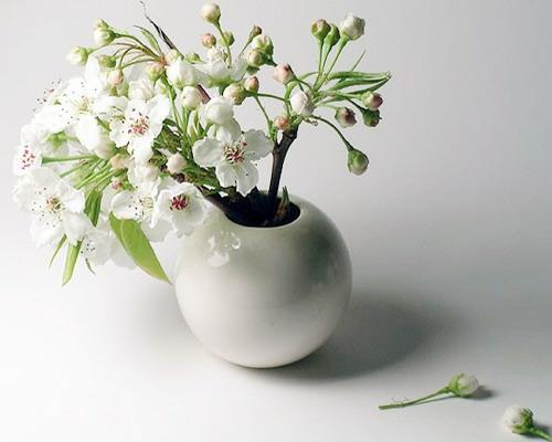 frühjahr deko vase interessant stilvoll frisch weiß