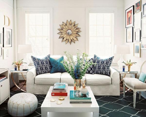 frühling dekoration wohnzimmer hell weiß angenehm blumenstrauß
