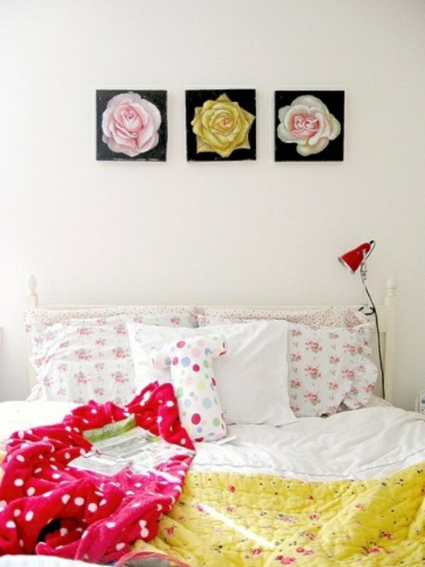 frühlingsdeko im schlafzimmer bild rosen