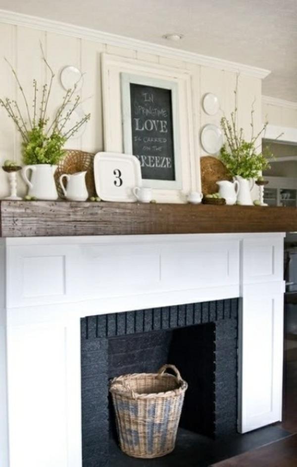 fr hlingsdekorationen f r das kaminsims frische ideen. Black Bedroom Furniture Sets. Home Design Ideas