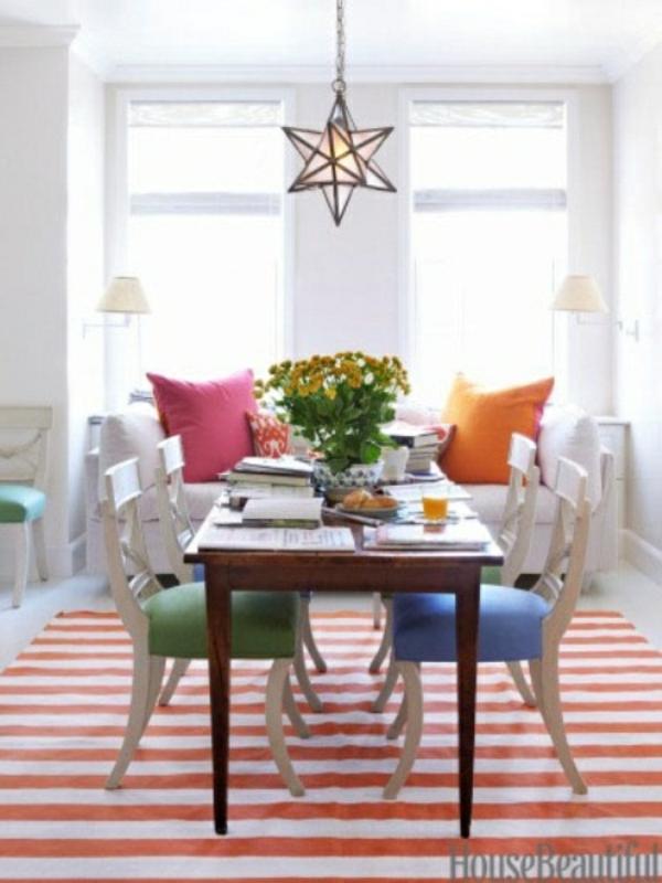 frische fr hlingsdekorationen im esszimmer 30. Black Bedroom Furniture Sets. Home Design Ideas
