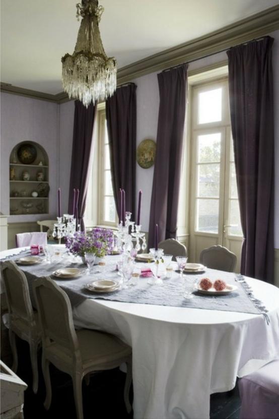 französische esszimmer designs originell holz grau essstuhl