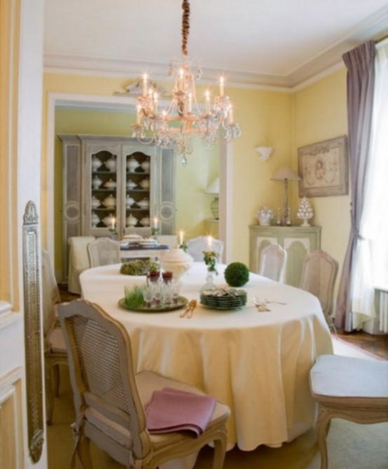 französische esszimmer designs originell pastellfarben