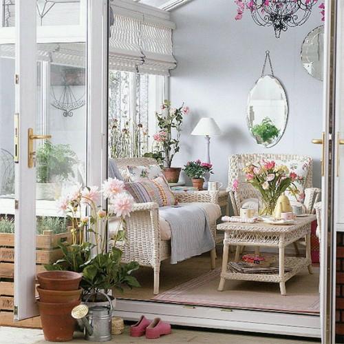 frische veranda deko ideen pastellfarben