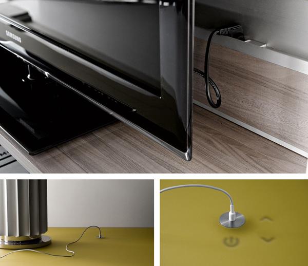 funktionale wohnzimmer möbelstücke computer monochrom