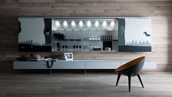funktionale wohnzimmer möbelstücke designer idee holz