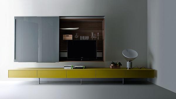 funktionale wohnzimmer möbelstücke grasgrün niedrig