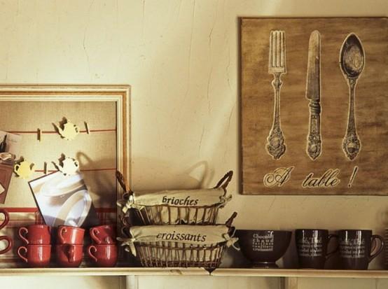 gabell löffel idee keramisch rot tassen arbeitsplatte küche
