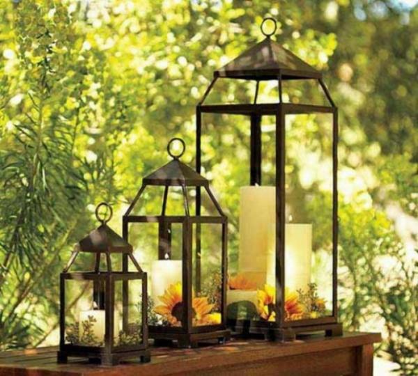 romantische gartenbeleuchtung mit kerzen 25 originelle ideen. Black Bedroom Furniture Sets. Home Design Ideas