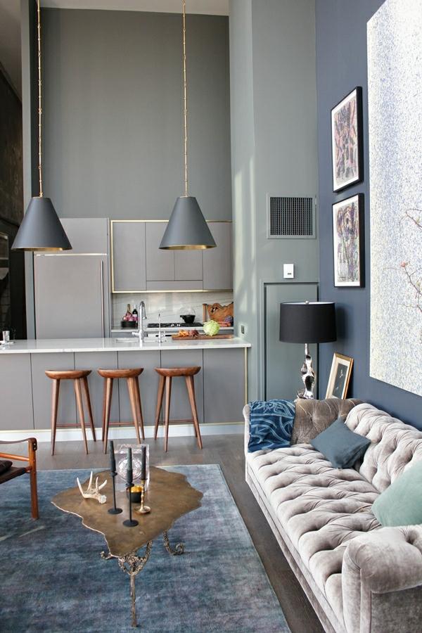 wohnzimmer blau wei grau – inelastic, Deko ideen