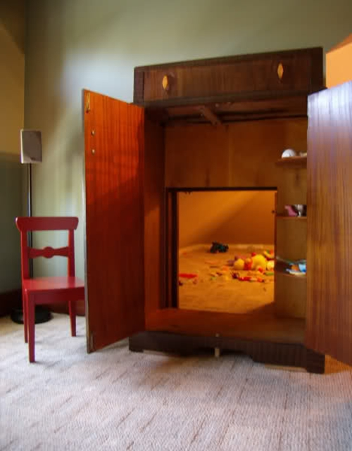 Tür Verstecken geheimes kinderzimmer kreative idee den märchen inspiriert
