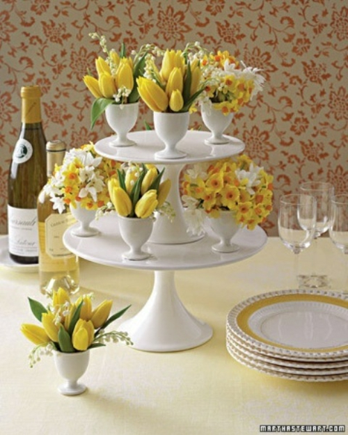 Originelle Blumendekoration Zu Ostern 40 Festliche