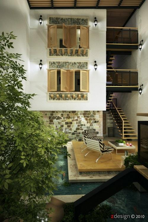 gemütlich ambiente pflanzen wasser interieur