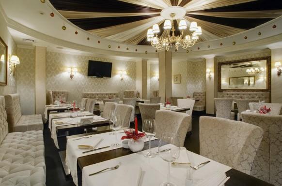 glänzend weiß interieur designs im restaurant