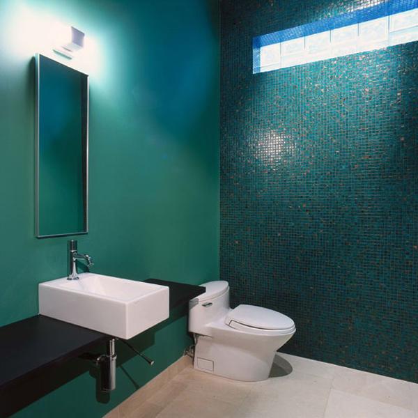grün smaragd modern einrichtung bad spiegel fliesen