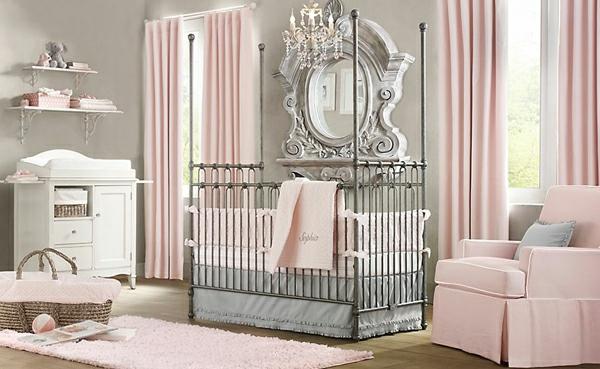 Farbschema: Grau Rosa Interieur Design Ideen, Schlafzimmer Entwurf