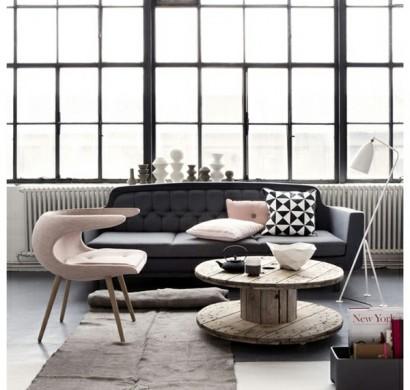 farbschema: grau-rosa interieur design ideen, Modern Dekoo