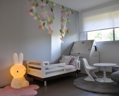Design Kinderzimmer   Monochromes Graues Kinderzimmer Design Fur Geschwister