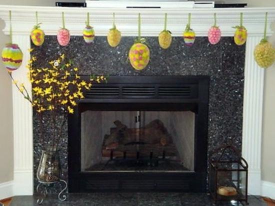 32 stilvolle deko ideen zu ostern schm ken sie den kaminsims. Black Bedroom Furniture Sets. Home Design Ideas