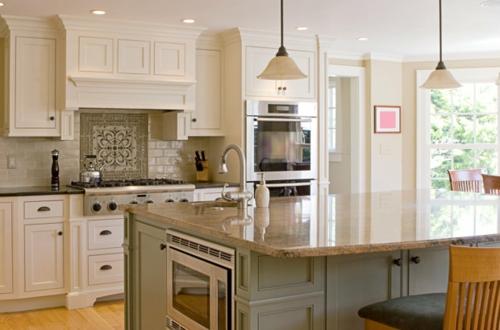 halbinsel küche insel küchenspiegel ofen schränke spülbecken