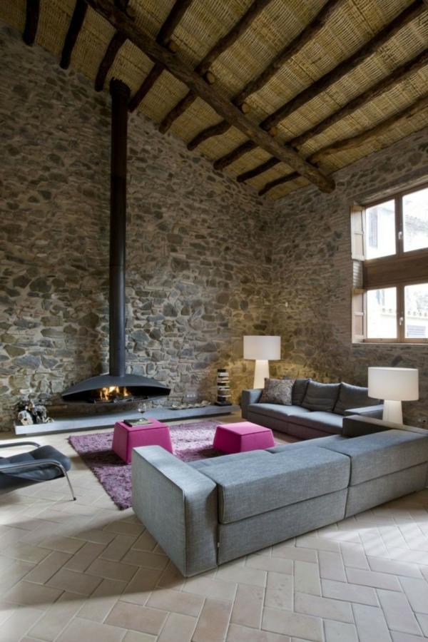 Wanddeko wohnzimmer stein – Dumss.com