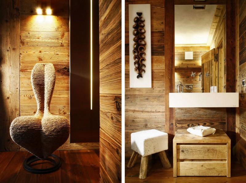 Luxus villa im landhausstil ampezzo meleres in italien for Haus rustikal modern