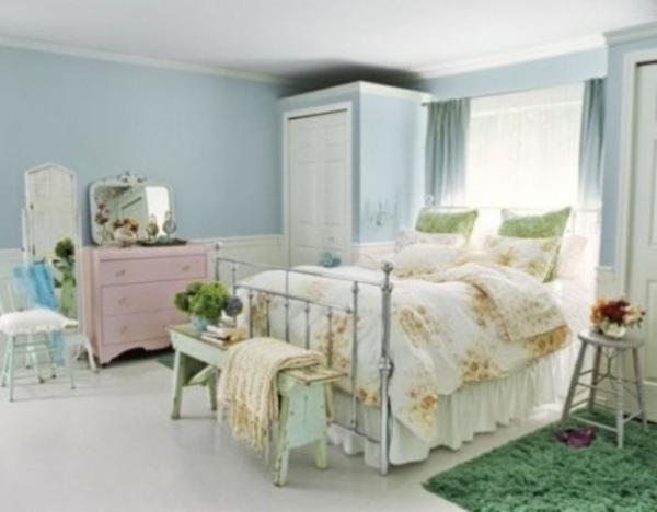 helle farben schlafzimmer verzierung