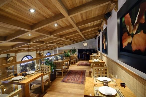 holz interieur designs im restaurant bilder