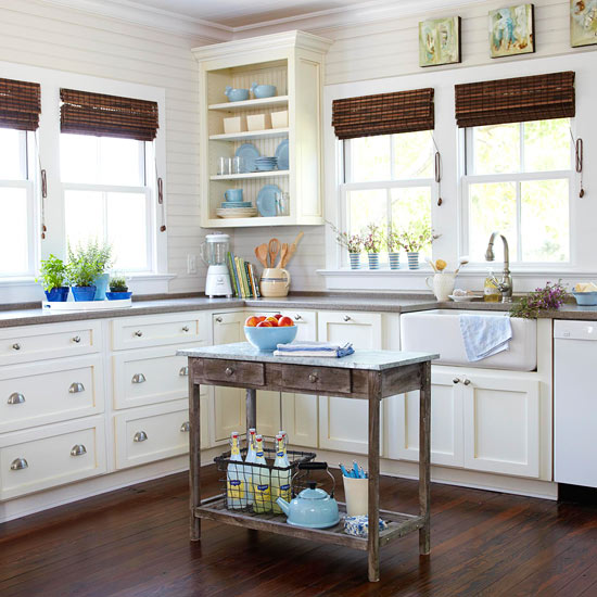 Kücheninsel Ideen für den kleinen Raum passend