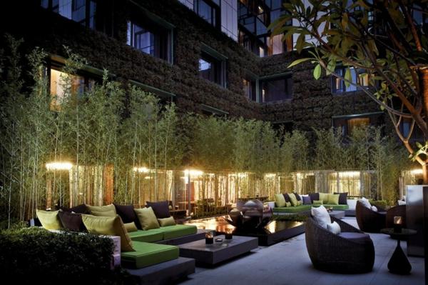 hotel luxuriös mira hong kong innenhof natur