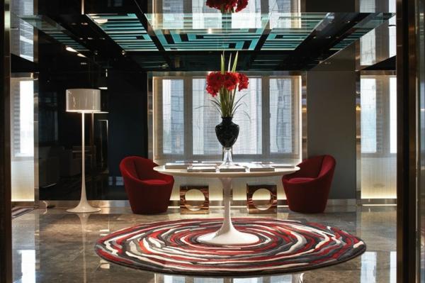 hotel luxuriös mira hong kong modern ambiente teppich rot