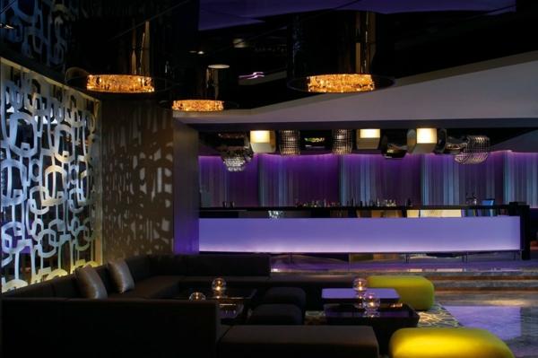 hotel luxuriös mira hong kong sofa schwarz lila licht