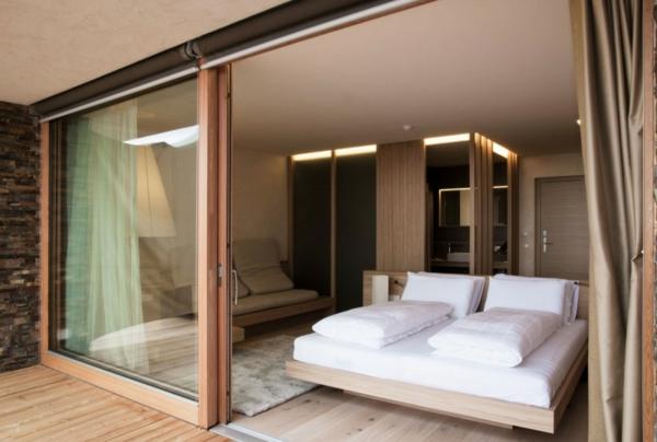 hotel valentinerhof noa gebirge baukonstruktion schlafraum