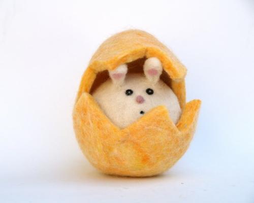 osterhasen idee selber machen eierschalen gelb fröhlich