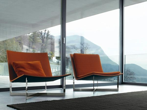 inspirierendes interior design paola lenti atollo sessel orange