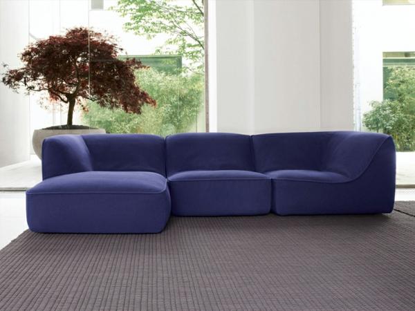 inspirierendes interior design paola lenti atollo sofa lila