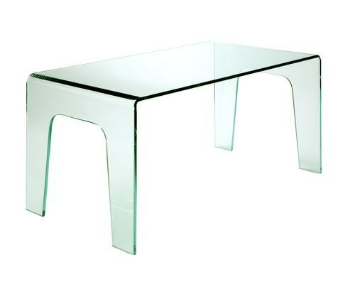 Extravaganter Schreibtisch aus durchsichtigem Glas ...