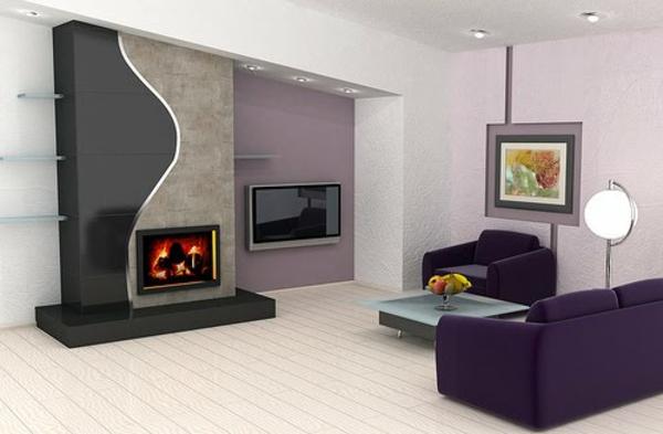 wohnzimmer grau lila grau g deko ideen - Wohnzimmer Grau Lila