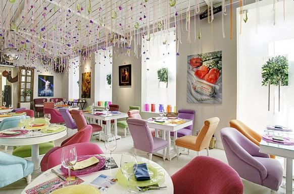 interieur designs bunte stühle