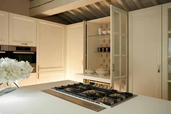Italienisch Design Küche Weiß Holz Massiv Arthesi Grace M