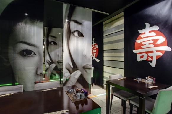 japanisch stil interieur designs im restaurant