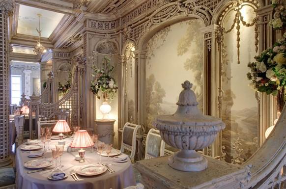königlich interieur designs im restaurant weiß