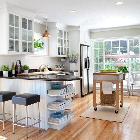 küche design bequemlichkeit rollen holz bar stühle