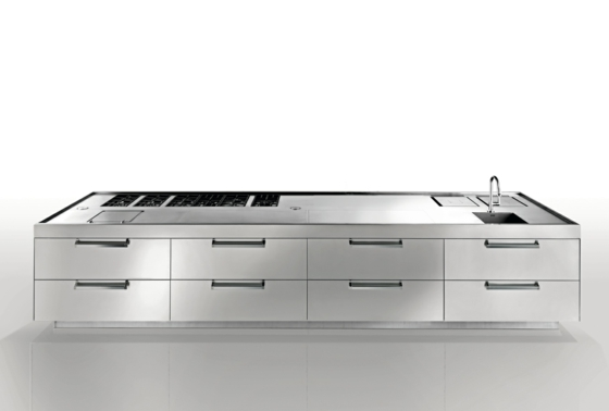 küche einrichtung arbeitsplatte stahl antonio cittirion artusi