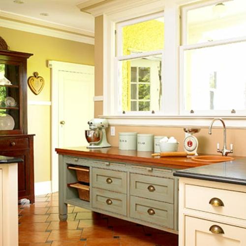 küchen mit vielen fenstern Charme und Komfort