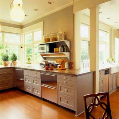 küchen mit vielen fenster Einfachheit selbst