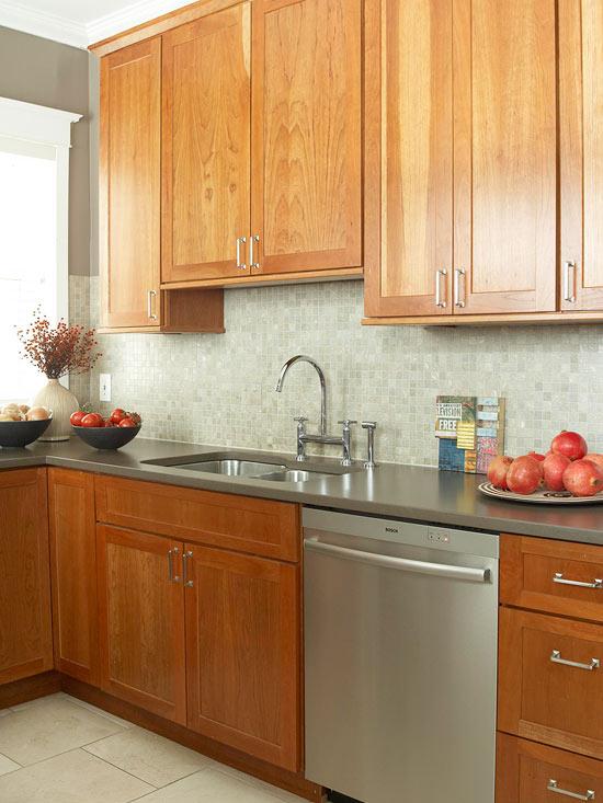 küchenbereich arbeitsplatte akzente tomaten