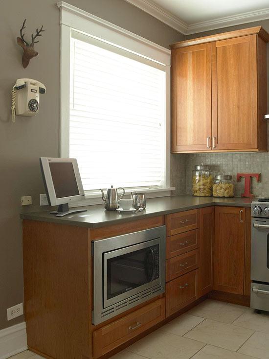 küchenbereich arbeitsplatte pasta gläser mikrowelle