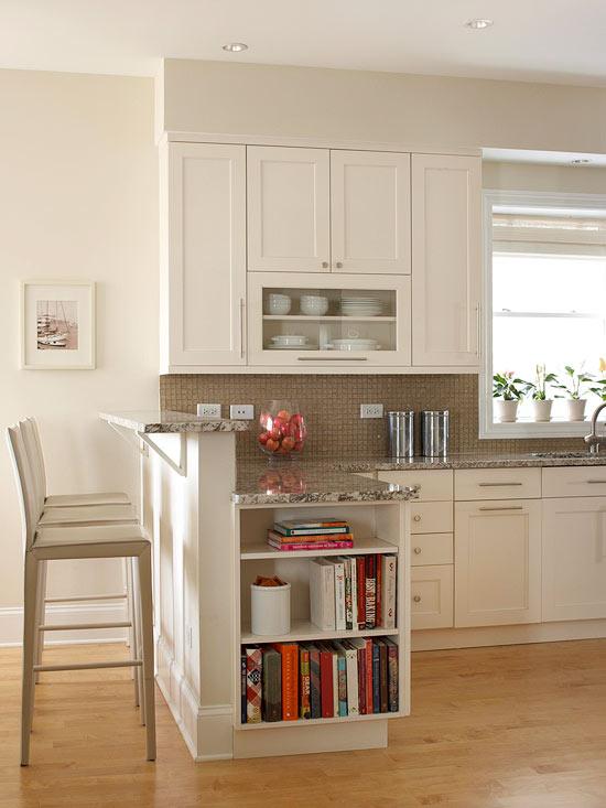 küchenbereich garten aussicht apfel glas schale