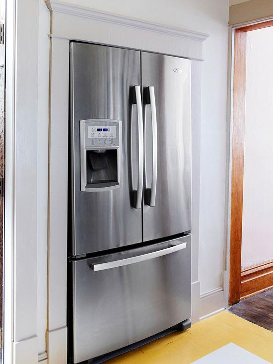 küchenbereich hoch modern kühlschrank